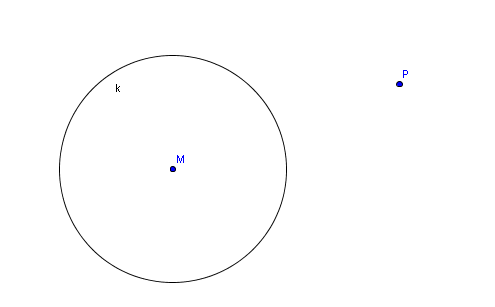 Tangentenkonstruktion von einem Punkt P an einen Kreis - GeoGebra ...